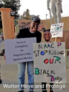 Walter Hoye at NAACP Protest