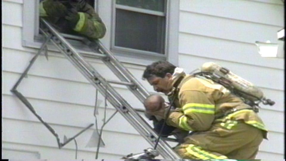 baby being rescued