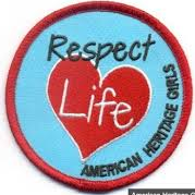 American Heritage Girls Respect Life Badge