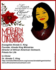 christmas card dr king7red